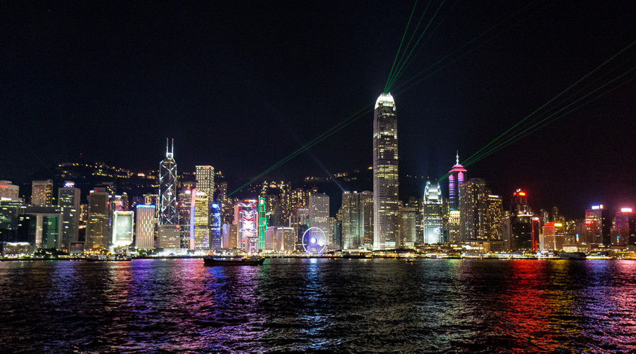 The Avenue of Stars & Symphony of Lights Hong Kong